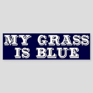 my grass is blue white bs 2 Bumper Sticker