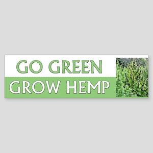 Go Green Hemp ~ Sticker (Bumper)
