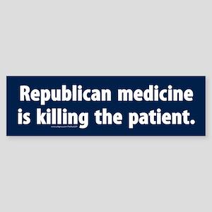Republican medicine Bumper Sticker