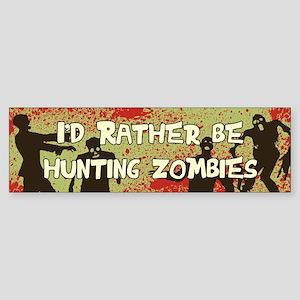 Zombie Hunting Sticker (Bumper)