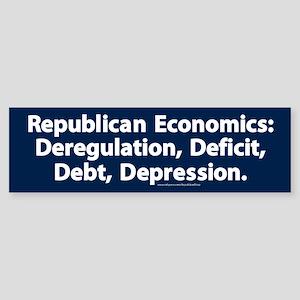 Republican Economics Bumper Sticker