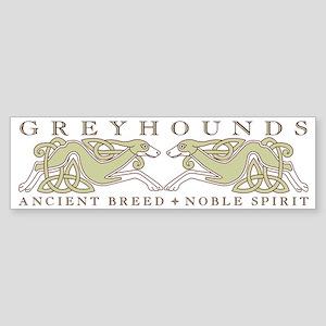 Knotwork Greyhounds Bumper Sticker