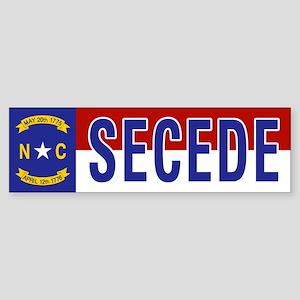Secede - NORTH CAROLINA Sticker (Bumper)
