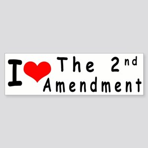 I Love the Second Amendment - bumper sticker