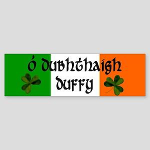 Duffy in Irish & English Bumper Sticker