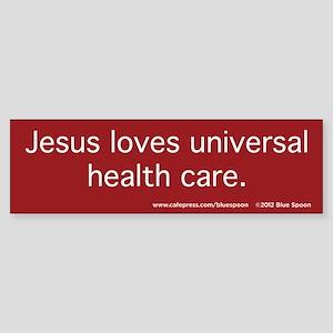 Jesus, Health Care Bumper Sticker (Red)