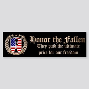 Honor the Fallen – Crest Bumper Sticker