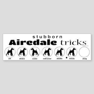 Airedale Tricks Sticker (Bumper)