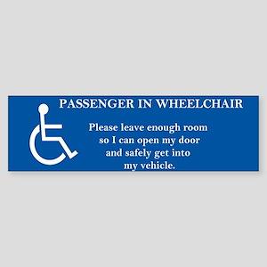 Passenger in Wheelchair 10x3 magnet Bumper Sticker