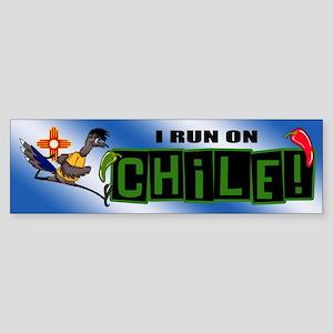 I RUN ON CHILE Bumper Sticker