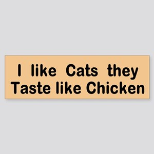Cats And Chicken (bumper) Bumper Sticker