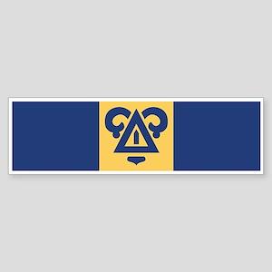 Delta Upsilon Badge Sticker (Bumper)