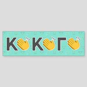 Kappa Kappa Gamma Emoji Clap Sticker (Bumper)