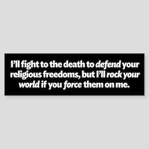 Defending Religious Freedom Bumper Sticker