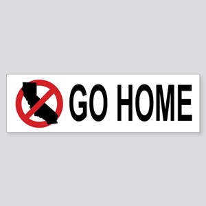 Californians, Go Home Bumper (white) Bumper Sticke
