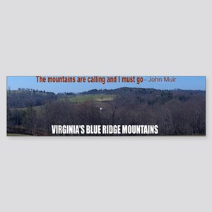 Blueridge Mountains Sticker (Bumper)