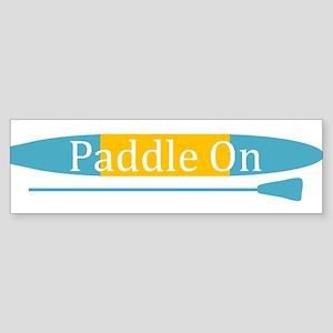 Paddle On Bumper Sticker