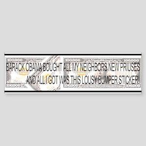 Barack Bought Priuses Bumper Sticker
