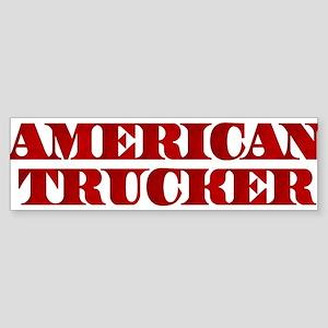American Trucker Bumper Sticker