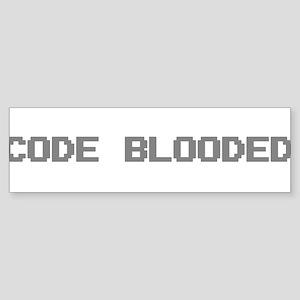 Code Blooded Sticker (Bumper)