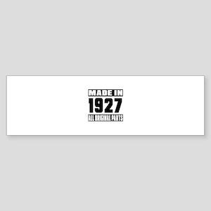 Made In 1927 Sticker (Bumper)