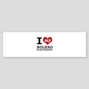 I heart my Bolero Girlfriend Sticker (Bumper)