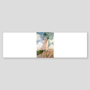 Claude Monet's Woman with a Parasol Bumper Sticker