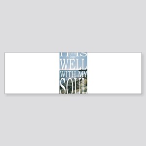 Hipster Photos: It Is Well Sticker (Bumper)