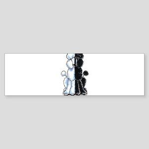2standardpoodles-lt Bumper Sticker