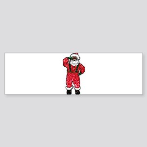 glitter black santa claus Bumper Sticker