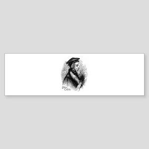 John Calvin Profile Bumper Sticker