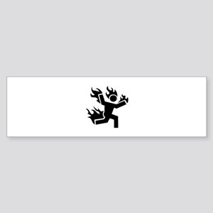 Man on Fire Sticker (Bumper)