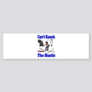 Cant Knock The Hustle-Blue Bumper Sticker
