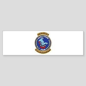 US - NAVY - Seal Team 4 Sticker (Bumper)