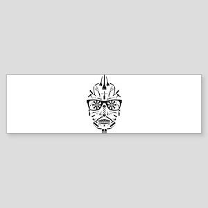 barbershop punk skull Bumper Sticker