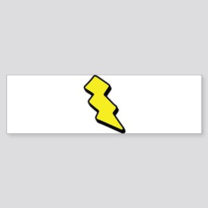Lightning Bolt Bumper Sticker