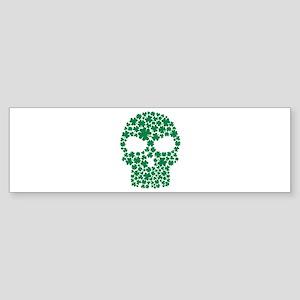 Shamrock skull Sticker (Bumper)