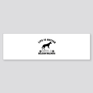 Belgian Malinois vector designs Sticker (Bumper)
