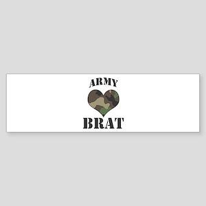 Brat: Camo Heart Bumper Sticker