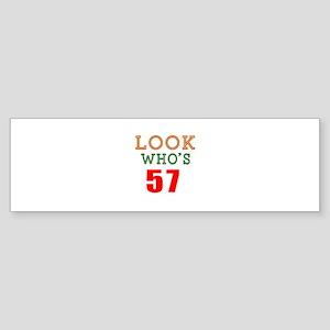 Look Who's 57 Sticker (Bumper)