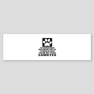 Samoyed Awkward Dog Designs Sticker (Bumper)