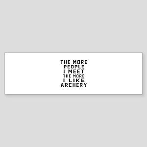 I Like More Archery Sticker (Bumper)