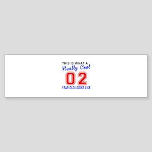 Really Cool 02 Birthday Designs Sticker (Bumper)