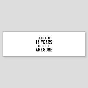 14 Years Birthday Designs Sticker (Bumper)
