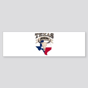 Bull Skull Texas home Bumper Sticker