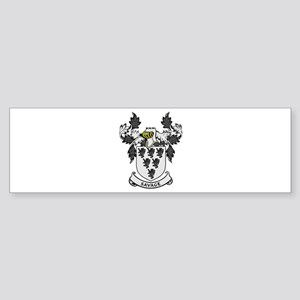 SAVAGE Coat of Arms Bumper Sticker
