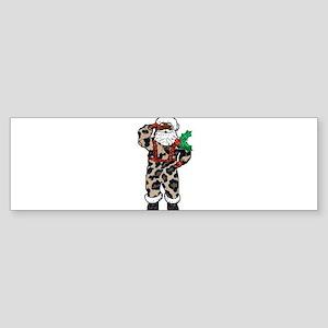 african leopard santa claus Bumper Sticker