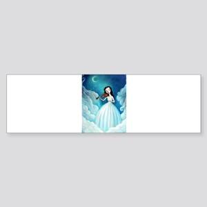 Girl with Moon and Violin Bumper Sticker