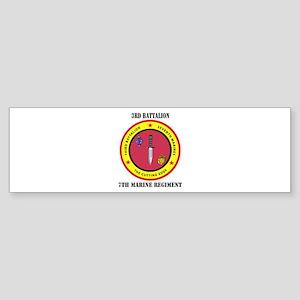2nd Battalion 7th Marines Sticker (Bumper)