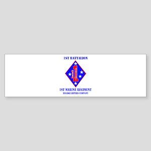 HQ Coy - 1st Marine Regiment with Text Sticker (Bu